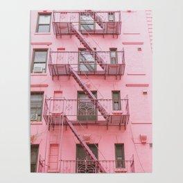 Pink Soho NYC Poster