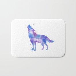 Watercolor Wolf Bath Mat