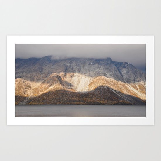 Norwegian mountain dissection Art Print