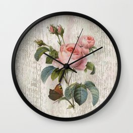 Roses Nostalgie Wall Clock