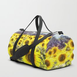 Sunflower Fields Of Summer Dreams Duffle Bag