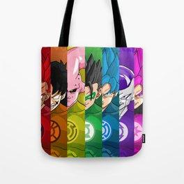 Lantern Corps x DBZ Characters Tote Bag