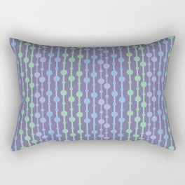 Beaded Curtain Jewel Tones Rectangular Pillow