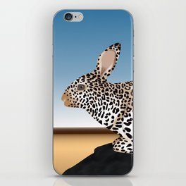 Rabbit Guepard Pattern iPhone Skin