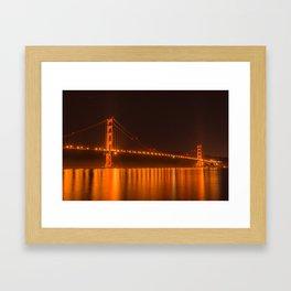 Golden Gate Reflection Framed Art Print