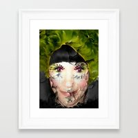 depression Framed Art Prints featuring Depression by ADH Graphic Design