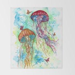 Jellyfish Garden Throw Blanket