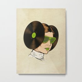 Princess L. was a DJ Metal Print