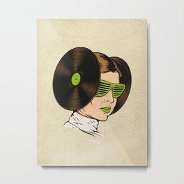 Princess L. was a DJ Metal Print