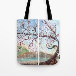 Fantasy Tree Watercolor Art Tote Bag