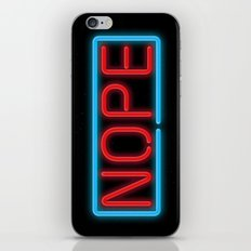Nope Neon iPhone & iPod Skin