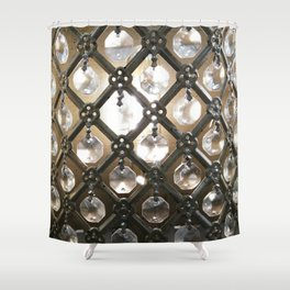 Rustic Glam Crystals and Metal Shower Curtain