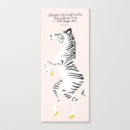 Pink Zebra Right Canvas Print