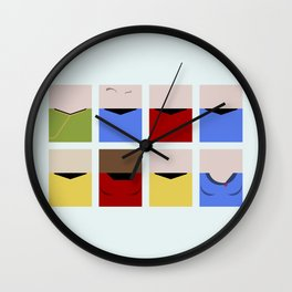Enterprise 1701 - Minimalist Star Trek TOS The Original Series - Trektangle startrek - Trektangles Wall Clock