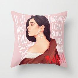 BLOW YOUR MIND Throw Pillow