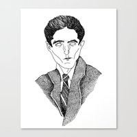 kafka Canvas Prints featuring Kafka by Sparganum