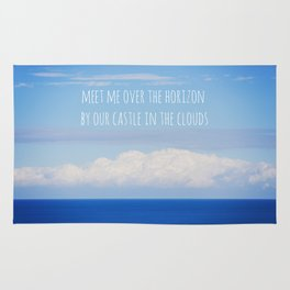 Meet me over the horizon Rug