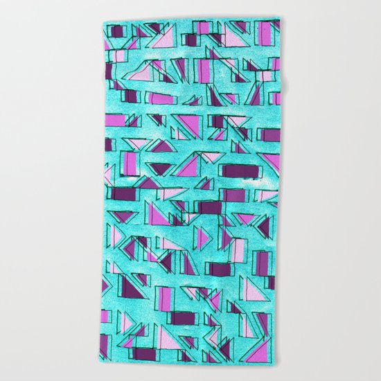 Angular Dimension Beach Towel