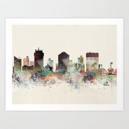 wichita kansas skyline Art Print