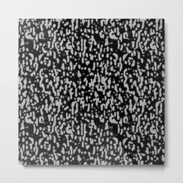 Black & Gray Texture Metal Print