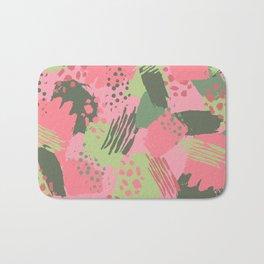 Pink & Green cool brush Bath Mat