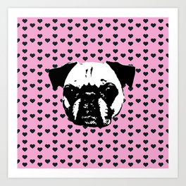 The Pug's Heartbeat Art Print