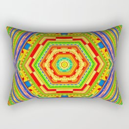 Stained Glass Kaleidoscope Rectangular Pillow
