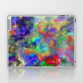 Abstract bright colorful watercolor brushstrokes pattern Laptop & iPad Skin