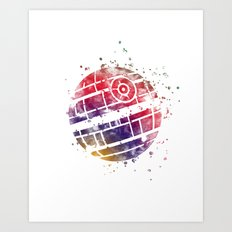 Star . Wars Death Star Art Print