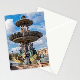 The Maritime Fountain at place de la Concorde - Paris, France Stationery Cards