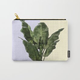 Banana Plant on Yellow and Blue Wall Carry-All Pouch