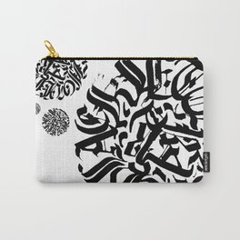 Circular Abstract Type Carry-All Pouch
