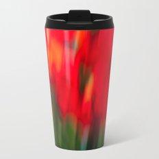 Red Gladiola Metal Travel Mug