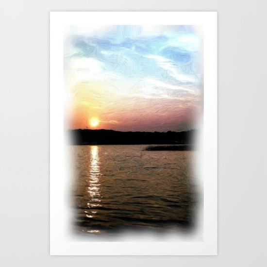 Sunset at the Lake Art Print