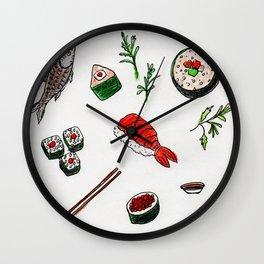 Scrumptious Sushi Wall Clock