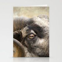 ram Stationery Cards featuring Ram by Pauline Fowler ( Polly470 )