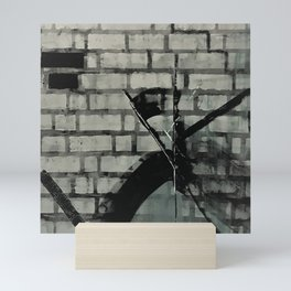 Graffiti Street Art from Original Painting by Jodi Tomer. Abstract Black and White Bricks Mini Art Print