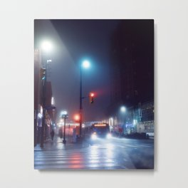 foggy night blues Metal Print