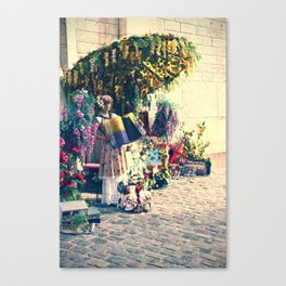 Accordian Player Montmartre street performer. Canvas Print