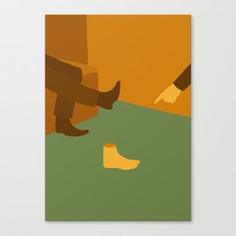 The Man Who Mistook His Wife for a Hat — The Shoe Canvas Print