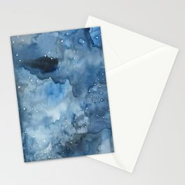 Night Tide Watercolor Stationery Cards