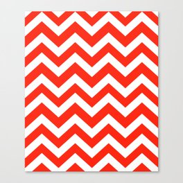 Red (RYB) - red color - Zigzag Chevron Pattern Canvas Print