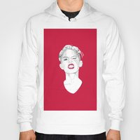 miley Hoodies featuring Miley by Fernando Monroy Robles