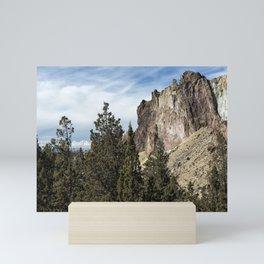 Rocky and Snowy Peaks Mini Art Print