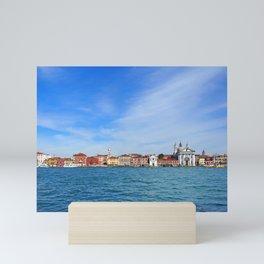 Panoramic view of Venice form the sea Mini Art Print
