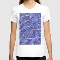 navy T-shirts featuring Tropical Navy by Cat Coquillette