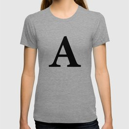 Letter A Initial T-shirt