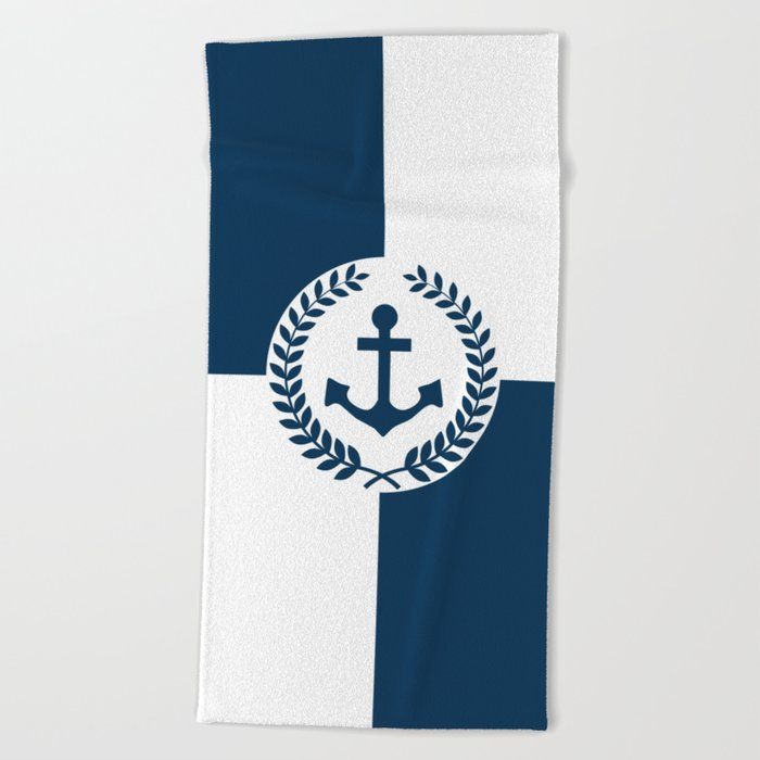 Nautical Themed Design 2 Beach Towel