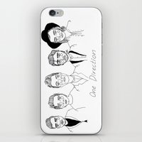 one direction iPhone & iPod Skins featuring One Direction by ☿ cactei ☿