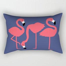 fluorescent flamingos Rectangular Pillow
